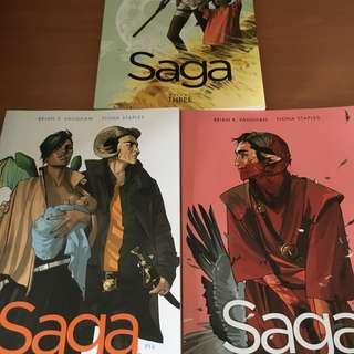 Saga Graphic Novels Vol 1 - 3