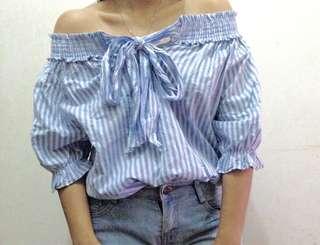 Off shoulder Stripe