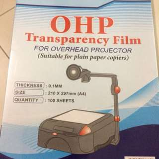 OHP transparency film for overhead projector