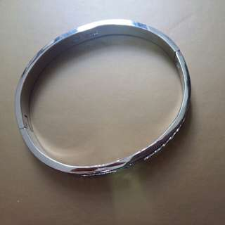 925 silver bangle with Crystal