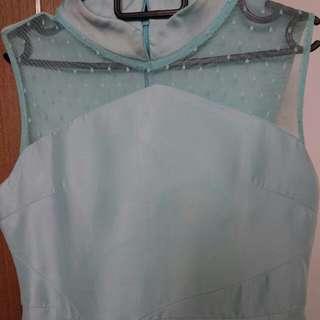 Sweet and pretty Tiffany Pastel green mesh MGP dress