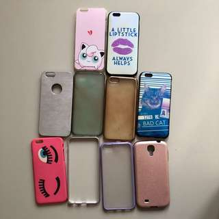 Sale 9 Case for Iphone 6 + free case Samsung S4