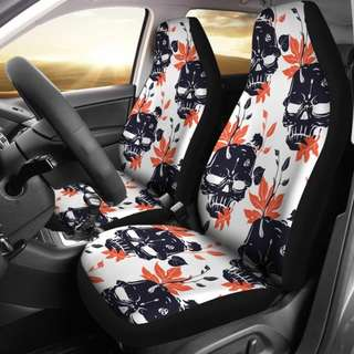 Leaf and Skull Car Seat Covers