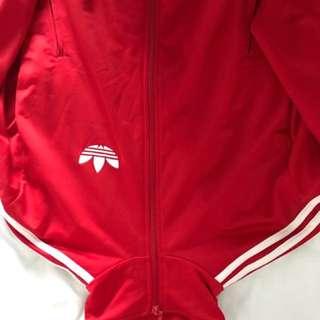 Adidas Superstar Jacket - Lush Red, White Men Size S