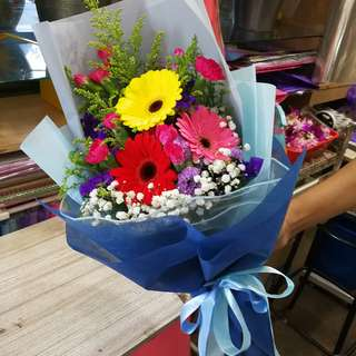 Graduation Flower Gerbera Bouquet