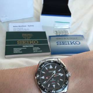 Seiko Prospex SUN049 Kinetic GMT 100m Mens Watch