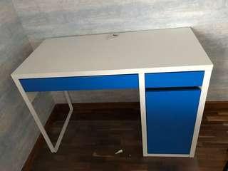 Study Table - IKEA, Micke - White/Blue