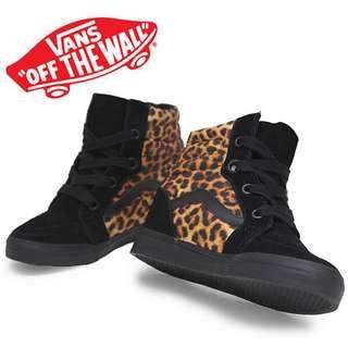 Sk8- Hi Wedge (Leopard) Black