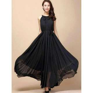 Chiffon maxin dress
