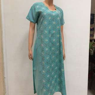Dress atasan baju india hijau tosca