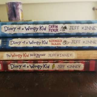 Diary of wimpy kid -set of 4 books