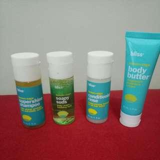 Bliss Canada Shampoo / Conditioner / Body Wash / Moisture Cream