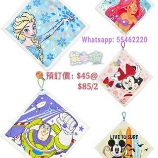 日本迪士尼直送綿質抺手巾