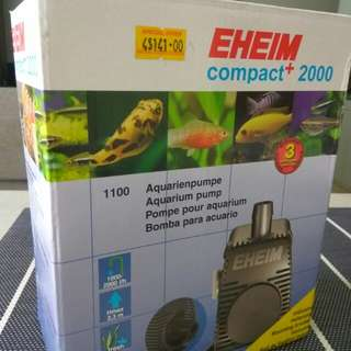 New Eheim compact 2000 aquarium pump