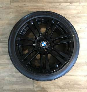 "BMW X6 M 20"" Original Rims with Bridgestone Runflat Tires"