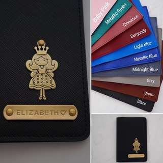 LC004- Black Customised NAME Personalised Passport Holder Personalised Passport Cover Custom Passport Cover Case - Made to Order