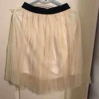 雙層紗短裙(有內裡)