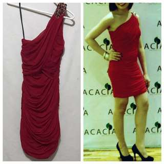 Venus cut formal red dress