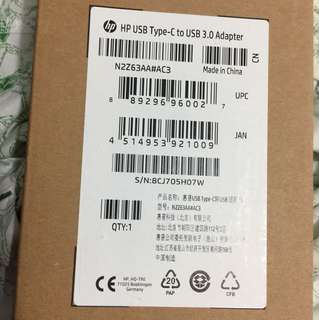 Hp USB type-C to USB 3.0 adaptor brand new sealed