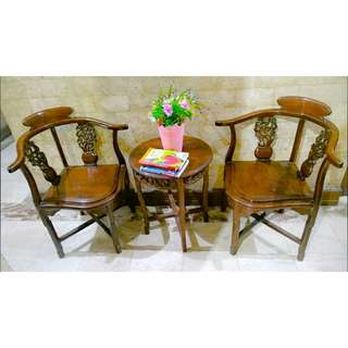 Authentic Narra Coffee Table Set