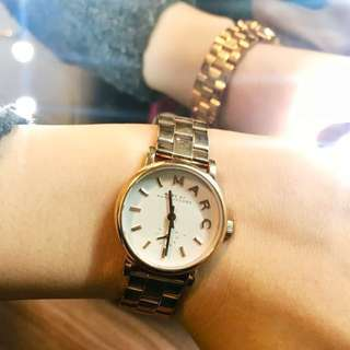 (有心可議)Marc Jacobs gold rose metallic watch
