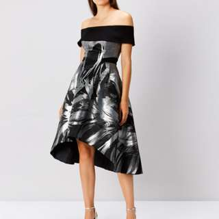 Echo Jacquard Full Midi Dress (Formal) - Worn once only