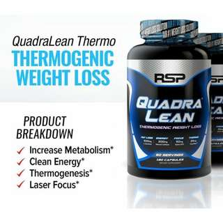 RSP Quadralean Thermogenic (180 caps) - Slimming, Fat burn, Bakar lemak. Imported from USA. Last unit
