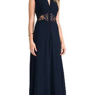 Jarlo navy dress with lace insert size 12