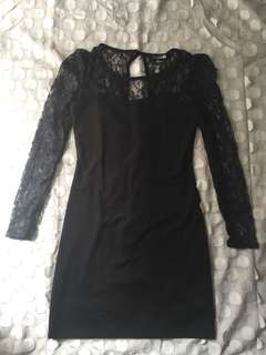 Lace black dress forever 21