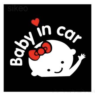 Baby in car sticker - Girl