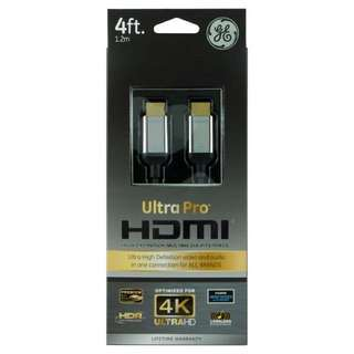 GE Ultra Pro HDMI cable 1.2M UHD HDR
