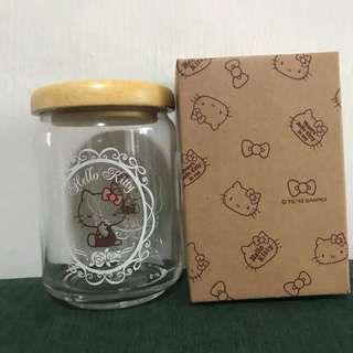 New Sanrio Hello Kitty Air Tight Jar Glass Bottle