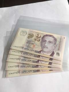 Spore Portrait Series $2 notes with Prosperity nos