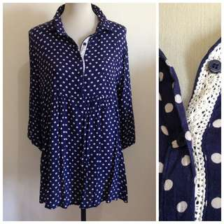 Polka Dot Minidress Large