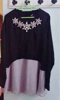 Sufyaa Jewel Neck two layer Top