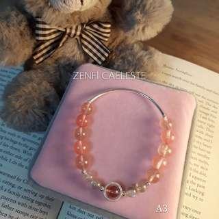 (A3) Silver 925 Gemstone Quartz Bracelet