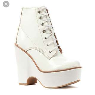 Jeffery Campbell white boots