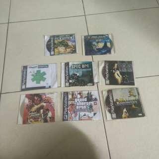 Kumpulan kaset kopian pabrik PS1 playstation