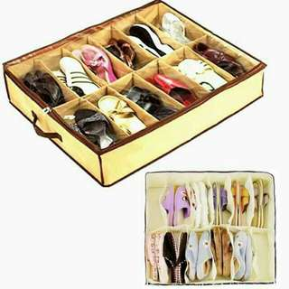 12 pairs. foldable shoe box!