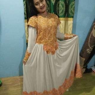 Preloved Gaun/Dress Pesta Full Payet