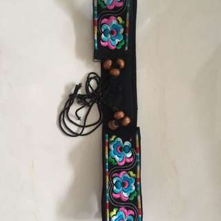 Handmade colorful embroidery belt