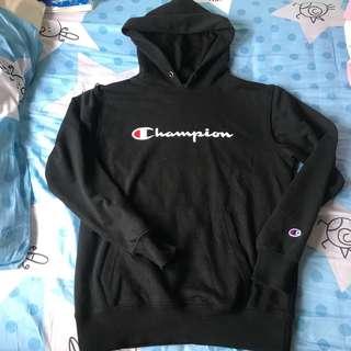 正版真貨 黑色champion hoodie 衛衣