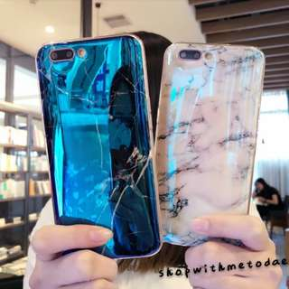 Marble Glossy Oppo R9S plus / R11 / R11S casing