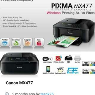 Canon mx477 multipurpose printer