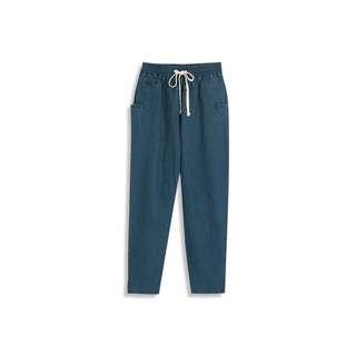 轉賣全新queen shop鬆緊腰口袋牛仔褲 size:L