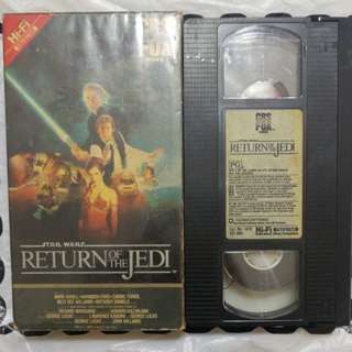 Star Wars Return of the jedi, VHS tape