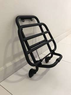 Genuine Vespa GTS Super Black Front Carrier Rack