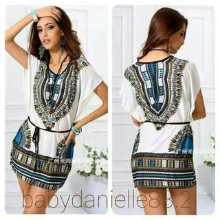 🌸Bohemian dress with string belt
