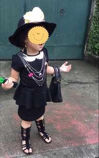 H&M kids peplum dress OOTD kids dress