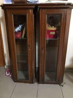 Standing lemari kaca antik jadul